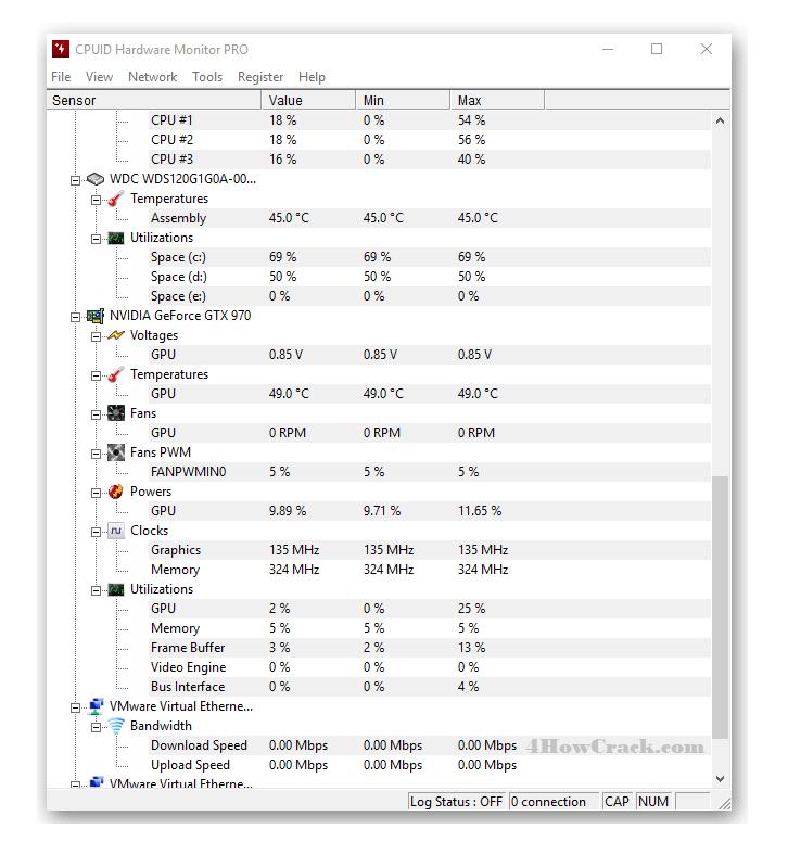 Cpuid hwmonitor | HWMonitor Pro 1 40 Crack + License Key Full