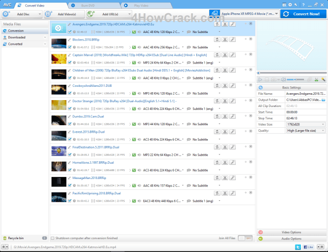 Any Video Converter Professional Serial key