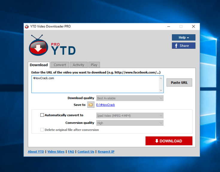 YTD Video Downloader Pro Full Version Free Download for PC