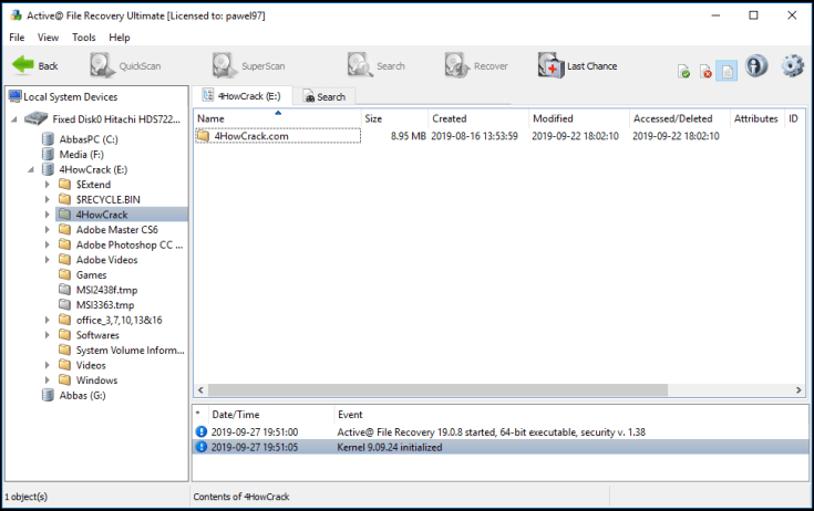 Active File Recovery Registration Key