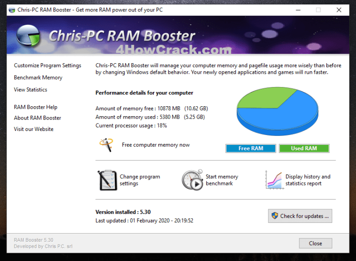 Chris-PC RAM Booster Serial Key