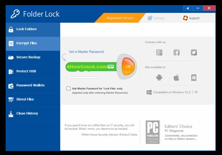 Folder Lock Registration Key