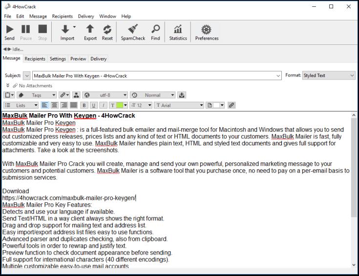 MaxBulk Mailer Pro Activation Key