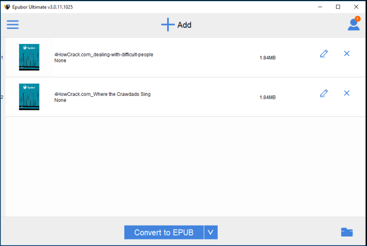Epubor Ultimate Converter Registration Code Free Download