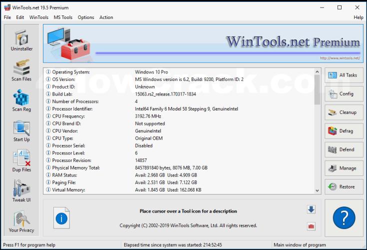 WinTools.net Premium Registration Key