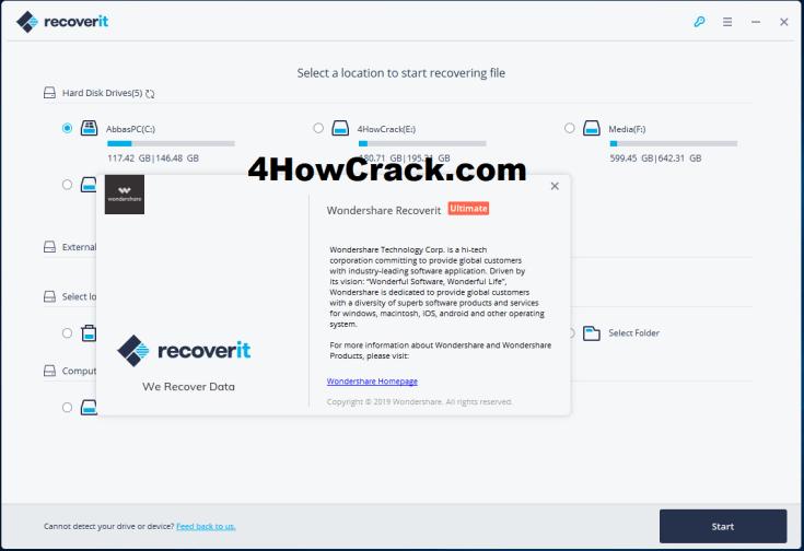 Wondershare Recoverit Ultimate Registration Code Free Download