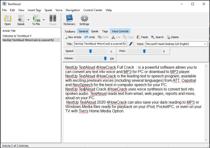 NextUp TextAloud License Key Download