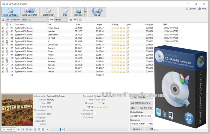 EZ CD Audio Converter Crack Free Download
