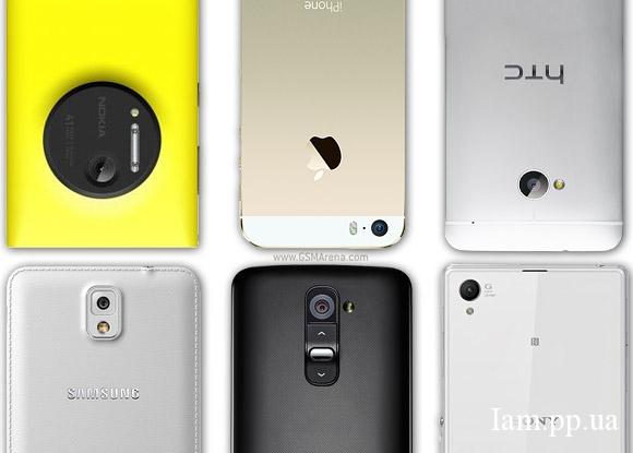 Тест 6-ти камер известных смартфонов от GSMArena