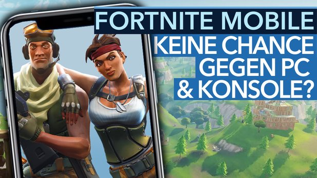 "Fortnite: Battle Royale - Video: Can I compete on the phone in crossplay with PS4 and PC? ""Width ="" 16 ""height ="" 9"