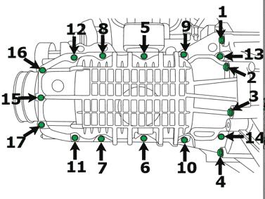 порядок протяжки и моменты затяжки картера двигателя