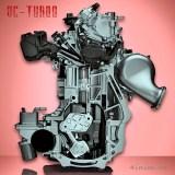 двигатель Infiniti-QX50 с переменной степенью сжатия VC-Turbo в разрезе