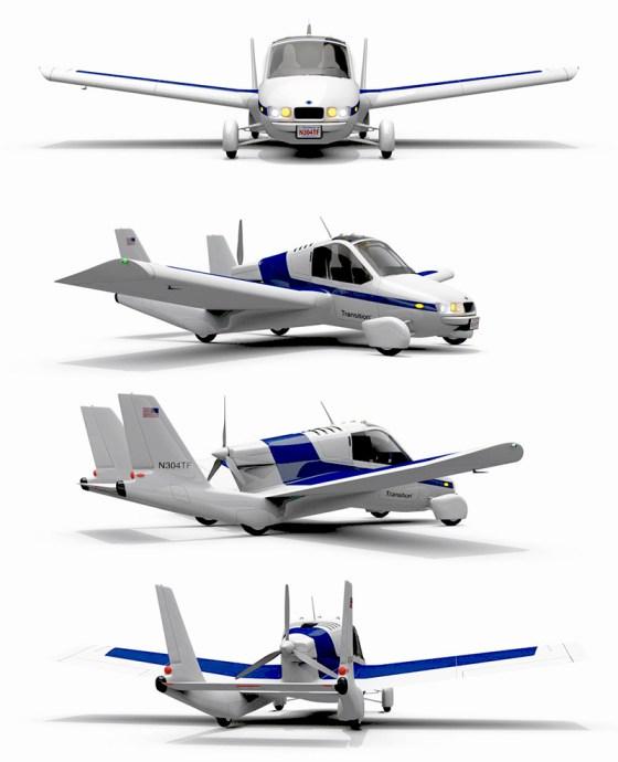 двухместный летающий автомобиль Transition  от китайского концерна geely поступает в продажу