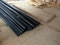 Plumbing materials on site