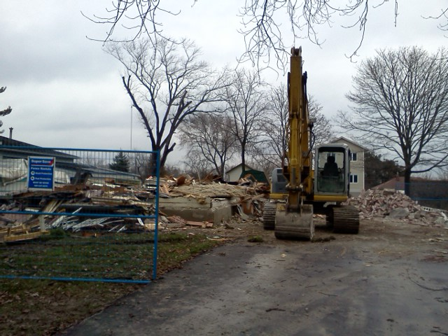 The first photo after the demolition dust settled