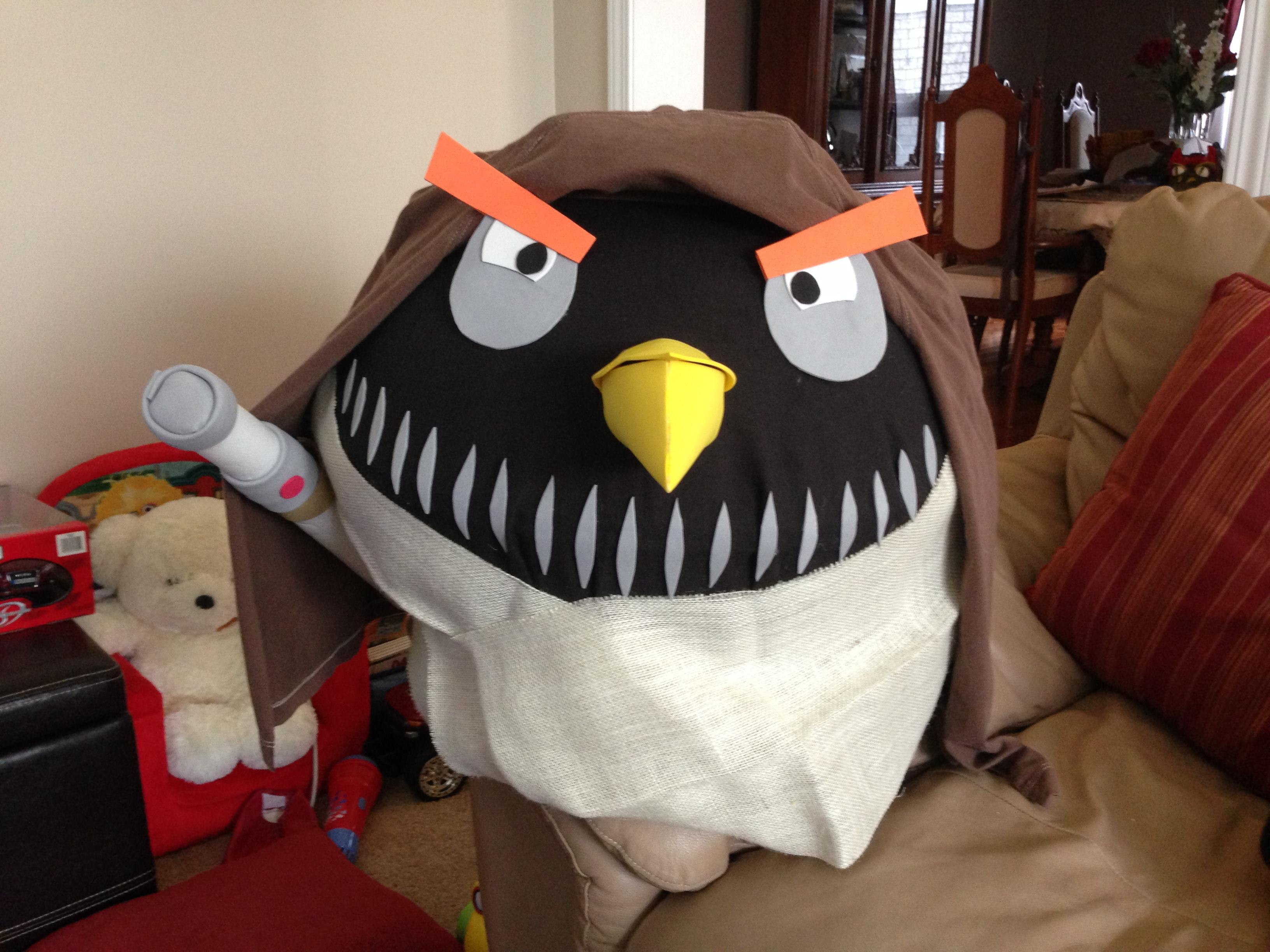 A Halloween Reveal: DIY Angry Birds Costume