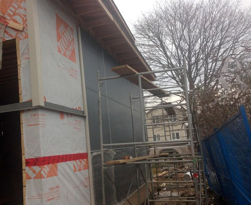 South wall in-progress