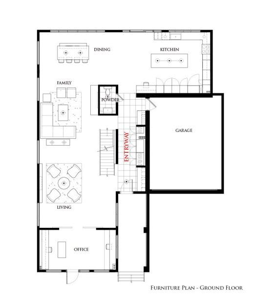 Washington Residence Ground Floor Interior Furniture Plan by Lisa Lev Design