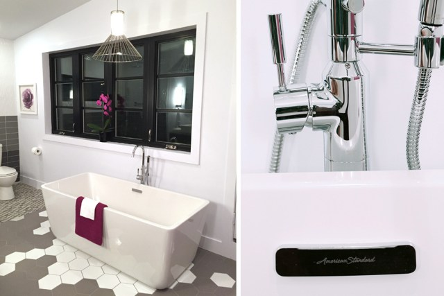 Loft freestanding tub & tub filler by American Standard - Master Bath Retreat | The Dreamhouse Project