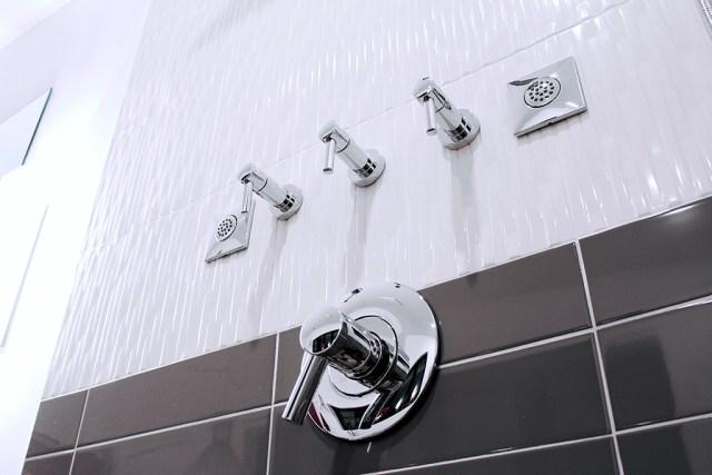 Brizo Odin thermostatic & volume controls - Master Bath Retreat | The Dreamhouse Project