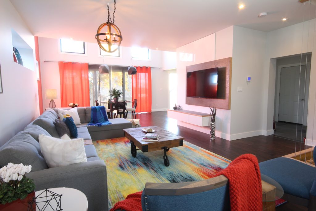 Our Modern Industrial Family Room