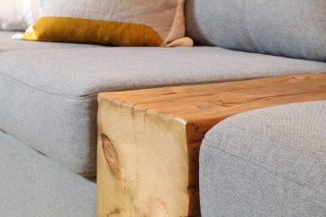 Close up of barn beam sofa insert