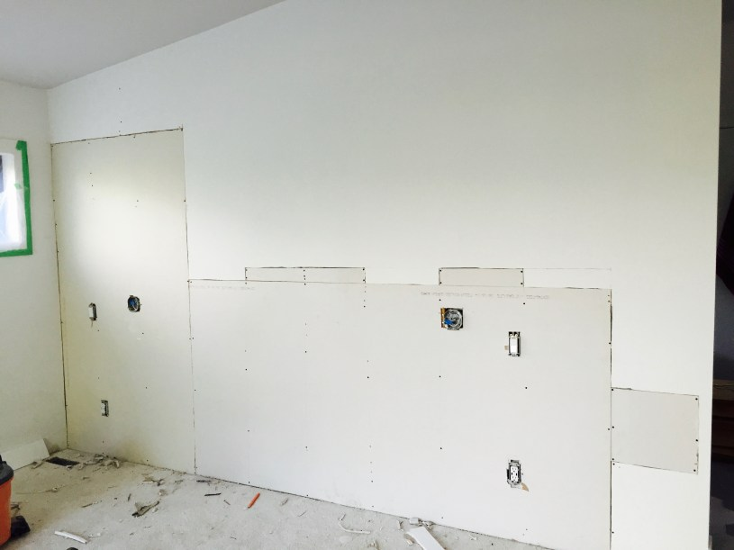 Unfinished bdroom wall - Dream Bedroom Before:   The Dreamhouse Project