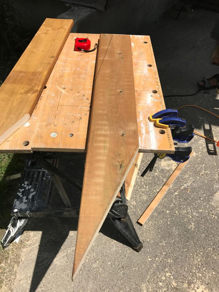 First leg cut complete