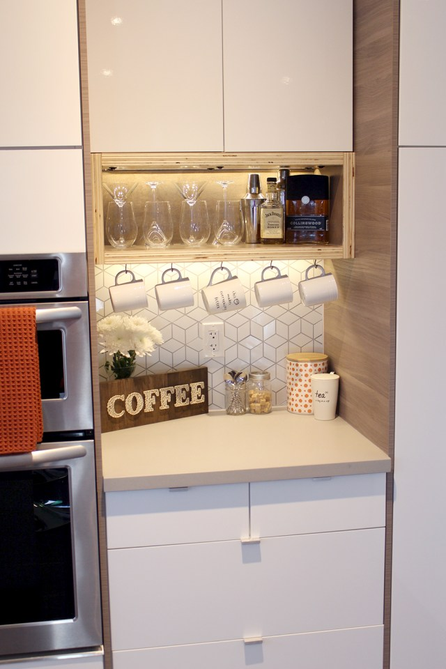 The Dreamhouse Project - Dream Kitchen Reveal custom DIY coffee station