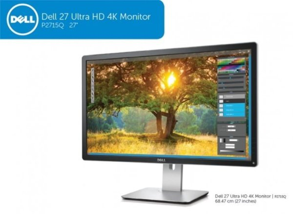 "Monitor IPS LED Dell 27"" P2715Q, Ultra HD"