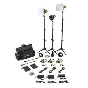 Dedolight SLT3-3-D-S Kit iluminare 3 lumini LED Bicolor Standard