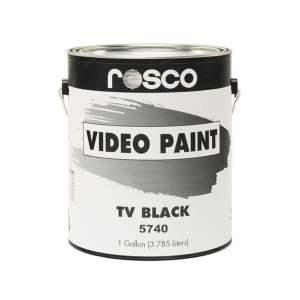 Rosco TV Black - vopsea 3,8 l pentru studiouri TV