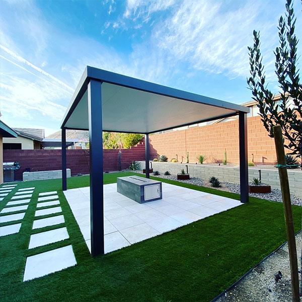 modern aluminum pergola patio covers