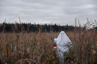 field-with-a-lantern