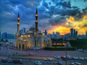 mosque-during-dawn