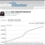 twitter における「カッチャー効果」と「ウェルチ数」「シュワルツネッガー数」