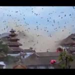 2015年4月25日ネパール大地震 逃げ惑う鳥の群れ