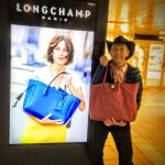 気分はロンシャン!表参道のLongchamp広告ジャック