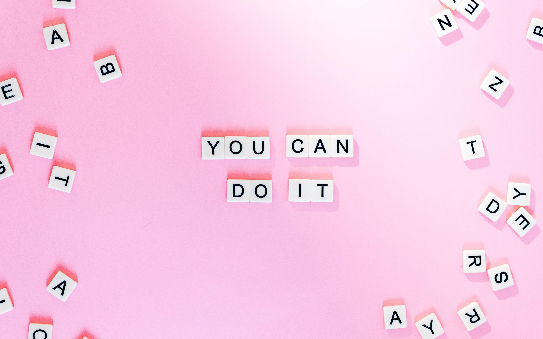 Flower wallpaper · trendy wallpaper · phone wallpaper · fall wallpaper. You Can Do It 4K Wallpaper, Pink background, Girly