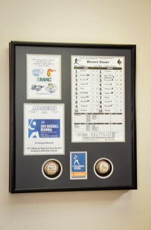 Custom Framed Baseball Shadowbox with Memorabilia