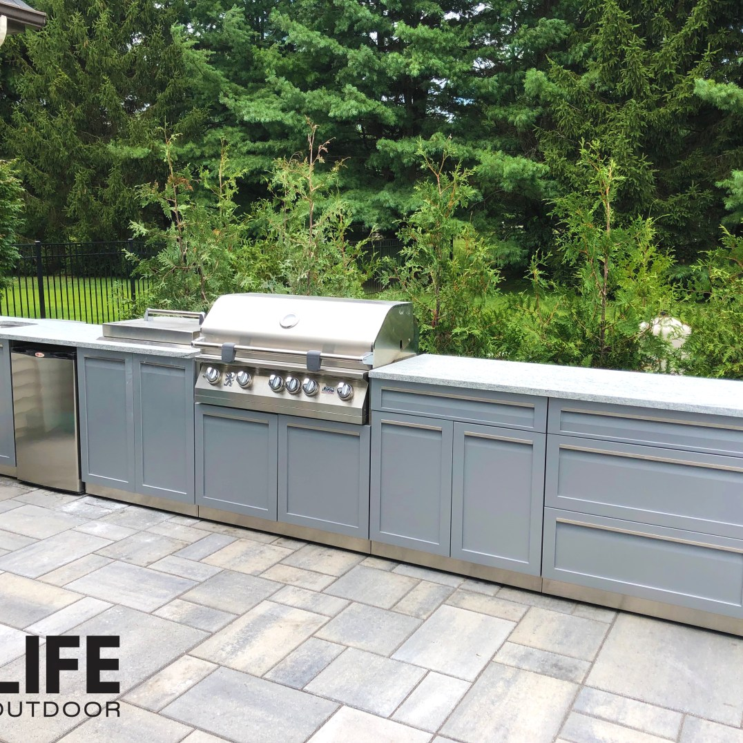 Lion grill with 4 Life Outdoor cabinets