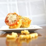 Creamy Crunchy Mac and Three Cheese Muffins