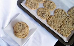 Gooey Soft Chocolate Chip Pecan Cookies