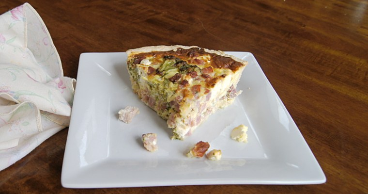 Three Cheese Ham Broccoli Quiche
