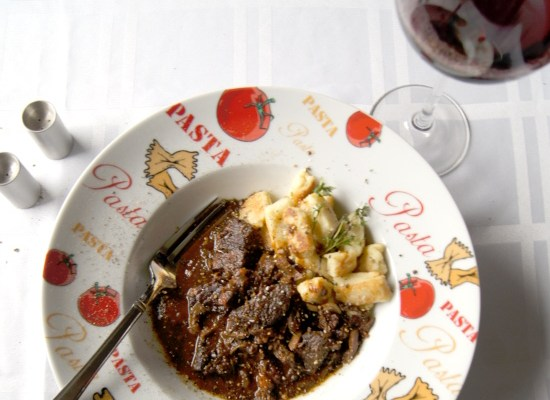 Italian Beef Stew with Thyme Brown Butter Gnocchi