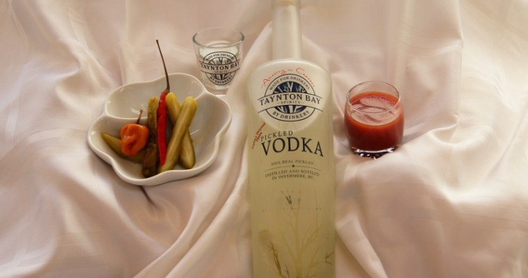Taynton Bay Pickled Vodka with Spicy Sangrita