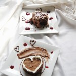 Flourless Chocolate Heart Cake