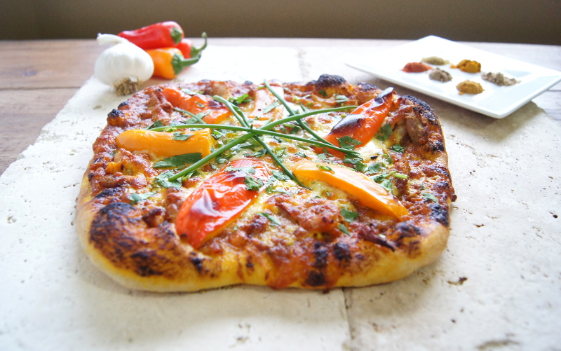 Curried Chicken Pizza