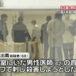 医師を殺害しようとして逮捕された岡村日出義の顔画像は?事件を知った妻や家族は・・・。