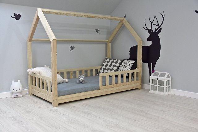 details sur bestforkids lit cabane enfant 70x140cm 90x200cm neuf maison bois avec barriere